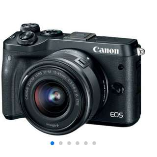 Canon EOS M6 Mirrorless 15-45mm Kredit Kamera Tanpa CC