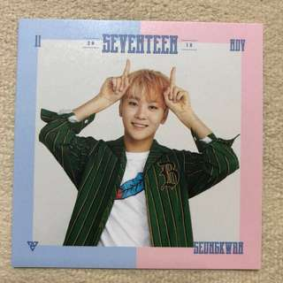 2018 SEVENTEEN SEASON'S GREETINGS PHOTOCARD