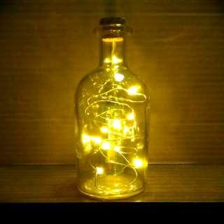[No-Stock]Petite Size Fairy Lights Glass Bottle(Pale Yellow)