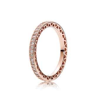 Hearts of Pandora RoseGold Ring