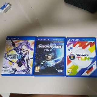 PS vita games (with box)