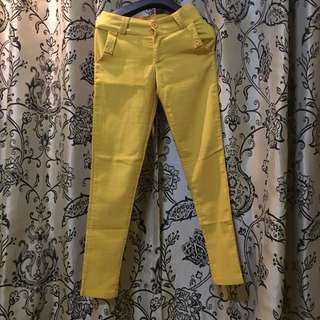 Skinny Yellow Pants