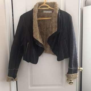🌸Faux Fur/ Suede Cropped Coat