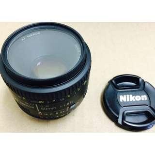Lens Nikon AF Nikkor 50mm f/1.8D DSLR Autofocus