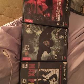 Three ps2 video games
