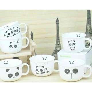 Panda Message Ceramic Coffee Cup