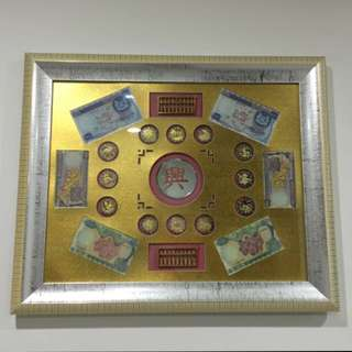 1967 Orchid Series Dollars Note On Frame, Heng Heng Money Come