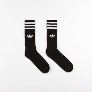 Adidas Solid Crew Socks Black (UK8.5-UK11)