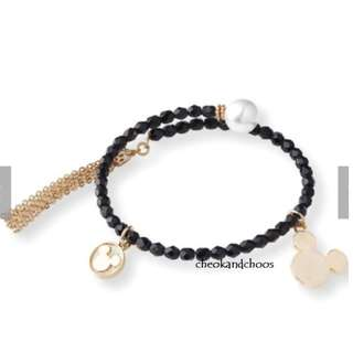 [PO] Disney Mickey Arrange Bracelet with Glittering Bijou (Black)