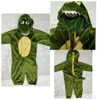 SALE preloved boys toddler crocodile costume / jumpsuit
