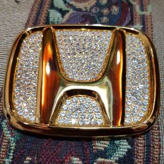 Honda emblem with swarovski crystals