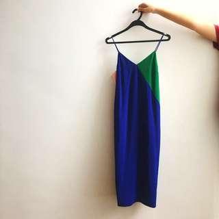 Love Bonito Midi Shift Dress in Blue/Green