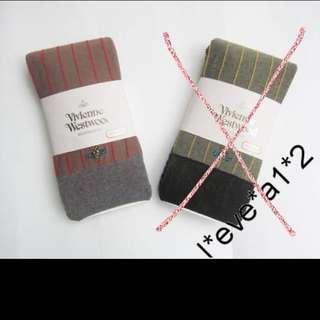 (QQ) 購自日本 日版 Vivienne Westwood 最新 直紋 星球 logo 長襪褲 10分 legging