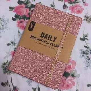 Pink Glitter 2018 Typo Planner