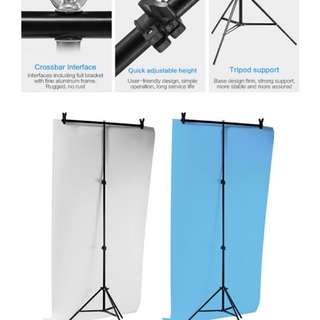 Meking Aluminum Alloy Photography 60*75cm PVC Backdrop Background Small Support Stand system