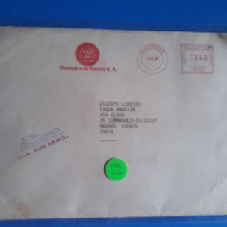 SINGAPORE to india 1983  Airmail METER FRANKING Postal Cover im114