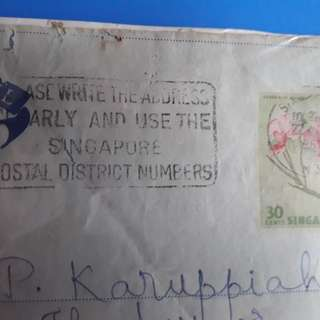 SINGAPORE to india  1967 Airmail SLOGAN CANCELLED Postal Cover im115