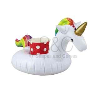 Mini Unicorn Pool and Beach Drink Holder Floater