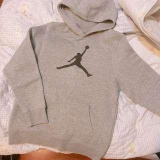 Jordan連帽T恤 灰 大童L