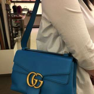 Gucci GG Marmont limited edition bag . Emerald colour