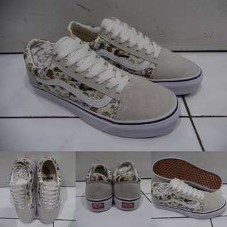 Sepatu Kets Vans Old Skool Peanuts Collections Dance Party Snoopy Joe Cool Charlie Brown