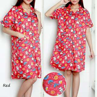 DRESS TIDUR HELLO KITTY