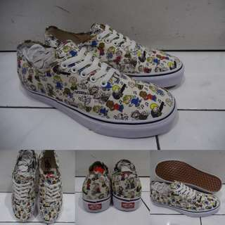 Sepatu Kets Vans Authentic Peanuts Collections Dance Party Snoopy Joe Cool Charlie Brown White