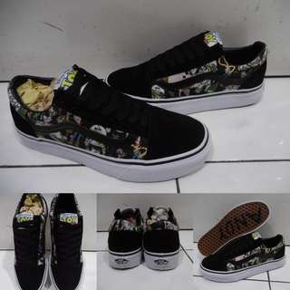 Sepatu Vans Old Skool Disney Toy Story Collections Woody Buzz Lightyear Black Green