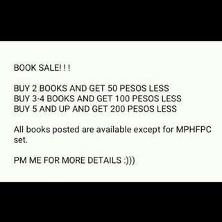 BOOK SALE!!! :)