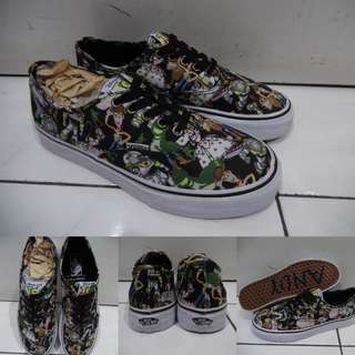 Sepatu Vans Authentic Disney Toy Story Collections Woody Buzz Lightyear Black Green