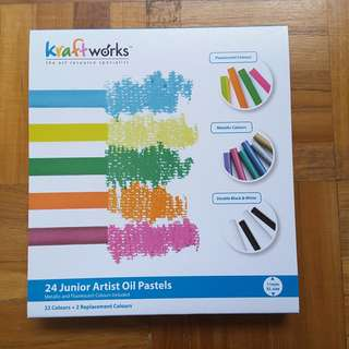 Kraftworks 24 colours oil pastels