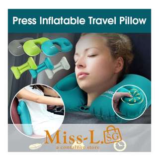 ✌️ PRESS INFLATABLE TRAVEL PILLOW