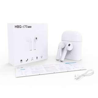 (限定優惠$178) HBQ i7S TWS 雙耳真無線藍芽耳機連充電盒 Wireless Bluetooth headphone V4.2 portable Mini headset with charger box