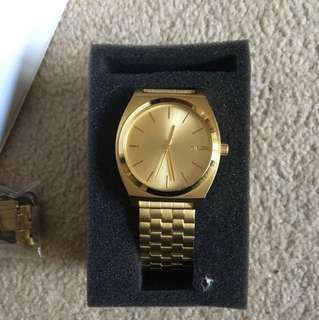 Nixon time teller watch in gold