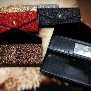 Dompet wanita Blink Glitter amplop/elegant/simple model/kado/gift