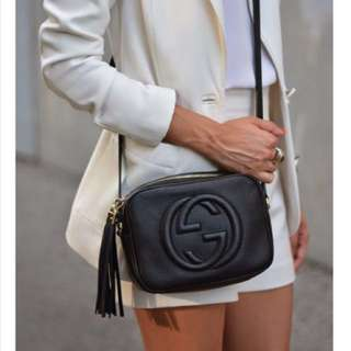 Gucci purse,Soho Disco Shoulder Bag Black