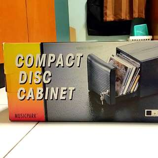 Compact disc cabinet