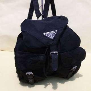 Prada Backpack Size Medium Authentic Second