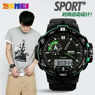 Jam tangan skmei original anti air bisa di bawa nyelam 50m