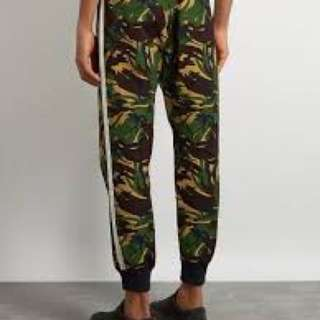Off white camouflage pants