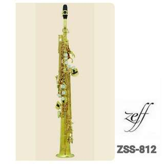 ZEFF SOPRANO SAXOPHONE (France) Intermediate  Style ZSS-812 2 removable necks(1 straight,1 curved)