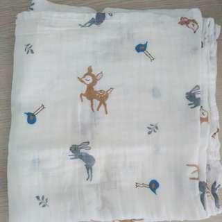 還在用有螢光劑的薄包巾嗎?看膩那些花色來看看~真正實測無螢光劑 寶寶竹纖維/純棉雙層紗布包巾、抱被 遮陽布 抱毯