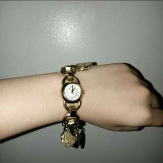 Fossil authentic watch with charms