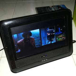 "Portable DVD player with a 10"" screen"