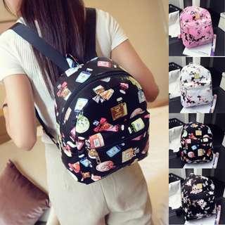 READY STOCK🎉Perfume Backpack Handbag Shoulder School Backpack + 🎁