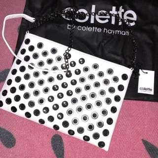 Colette white bag with pretty stones