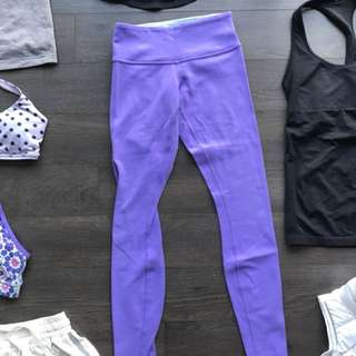 LULULEMON reversible leggings (size 2!)