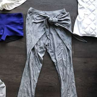 "LULULEMON GREY ""tie one on"" Pant"