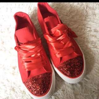 Red sneaker from japan