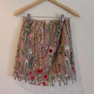 Vintage style embroidered skirt